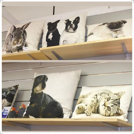 Wohn-Accessoire Kissen mit Tiermotiven bei Riemenschneider Wiesbaden